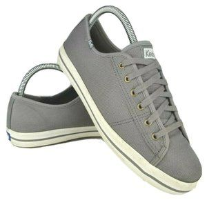 Keds Kickstart Shine Sneakers Gray Lace Up sz 8.5
